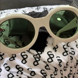 Acne Accessories - acne studios white mustang sunglasses
